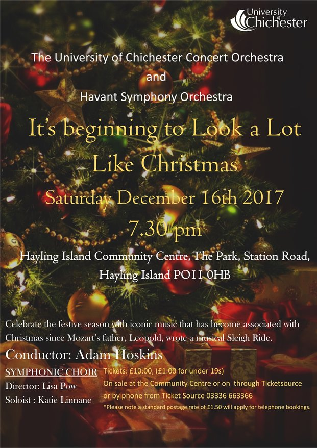 Christmas Concert at Hayling Island Community Centre 16th December 2017