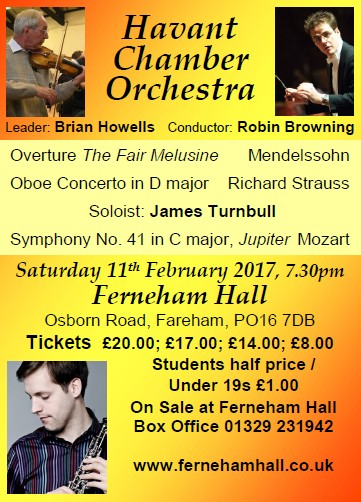 HCO Concert at Ferneham Hall 11th February 2017