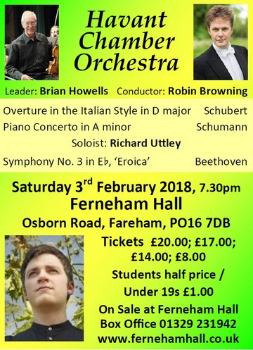 HCO Concert at Ferneham Hall 3rd February 2018