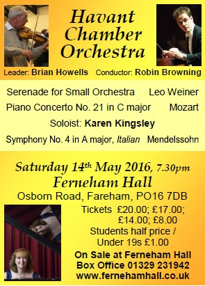 HCO Concert at Ferneham Hall 14th May 2016