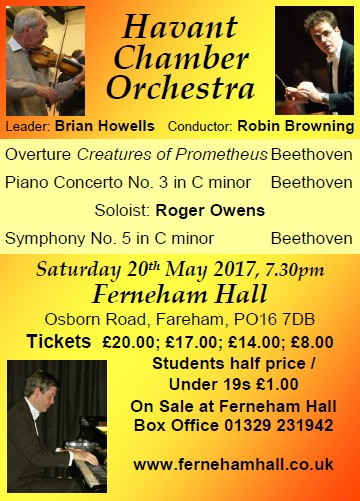HCO Concert at Ferneham Hall 20th February 2017