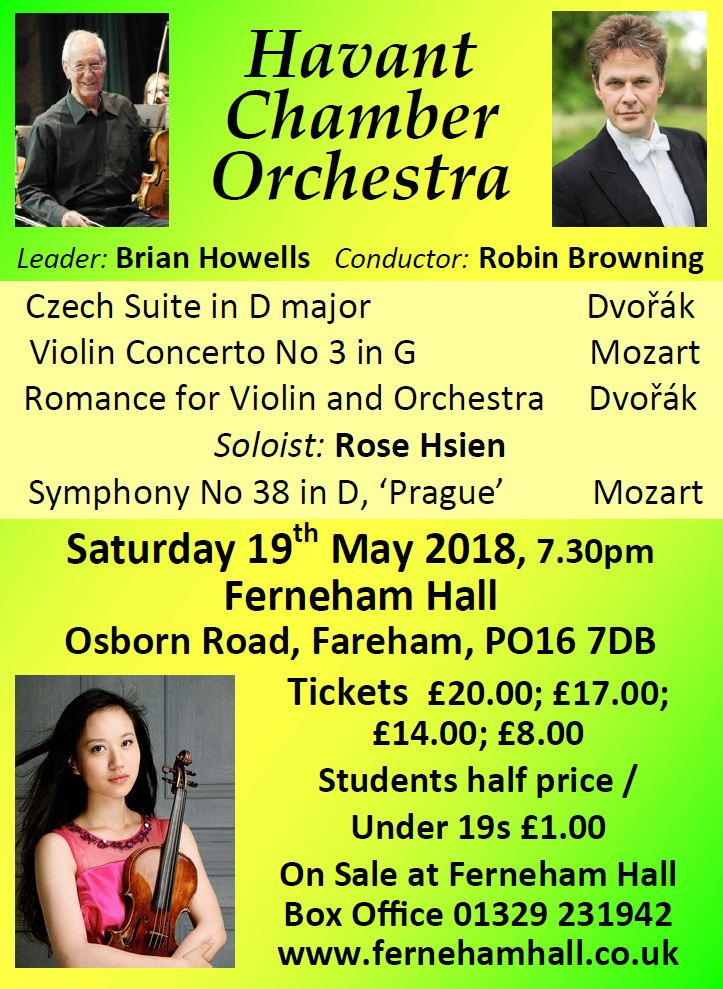 HCO Concert at Ferneham Hall 19th May 2018