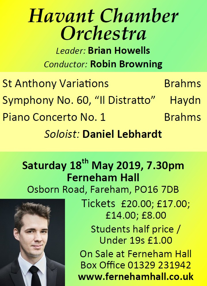 HCO Concert at Ferneham Hall 18th May 2019