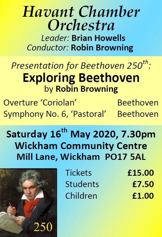 HCO Concert at Wickham Community Centre 16th May 2020