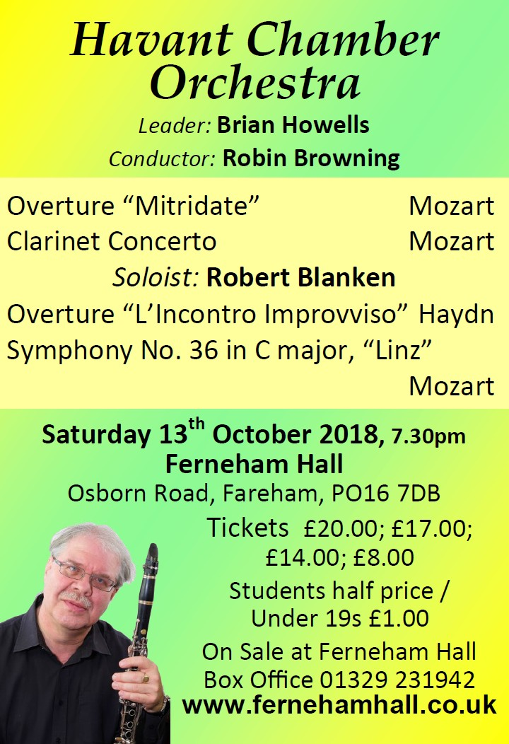 HCO Concert at Ferneham Hall 13th October 2018