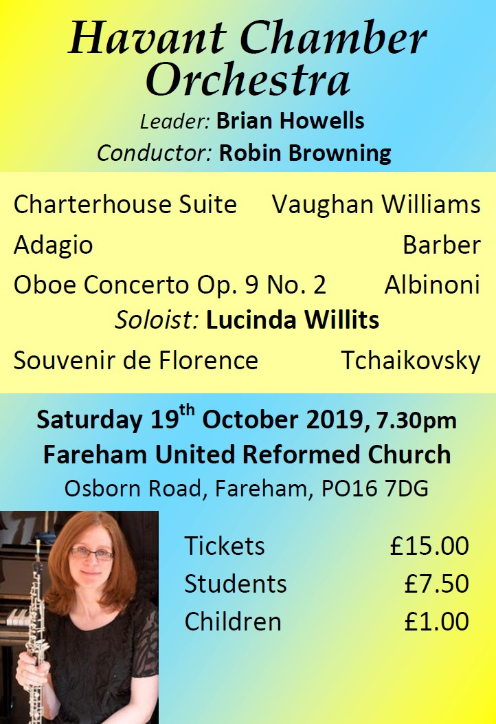 HCO Concert at Fareham URC 19th October 2019