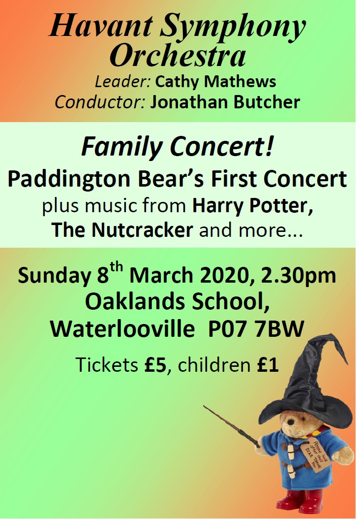 HSO Family Concert Oaklands 8th March 2020