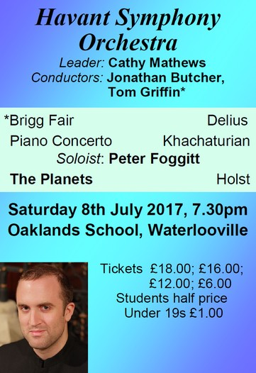 HSO Concert at Oaklands School 8th July 2017