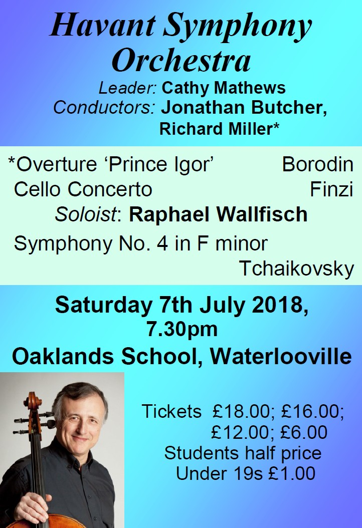 HSO Concert at Oaklands School 7th July 2018