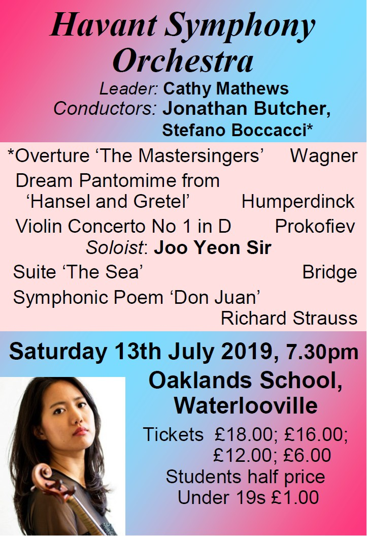 HSO Concert at Oaklands School 13th July 2019