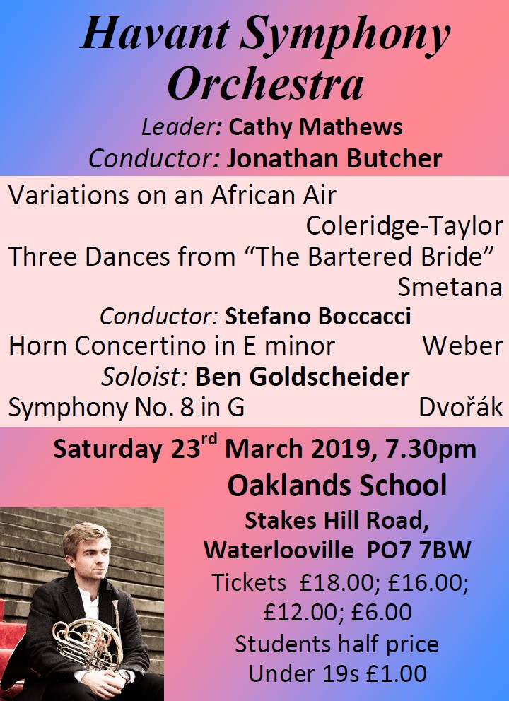 HSO Concert at Oaklands School 23rd March 2019