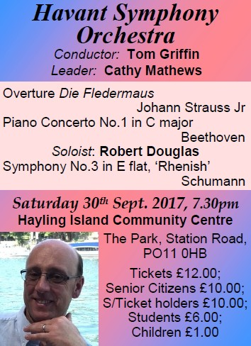 HSO Concert at Hayling Island Community Centre 30th September 2017