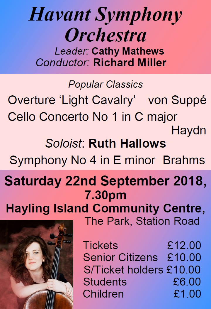 HSO Concert at Hayling 22nd September 2018