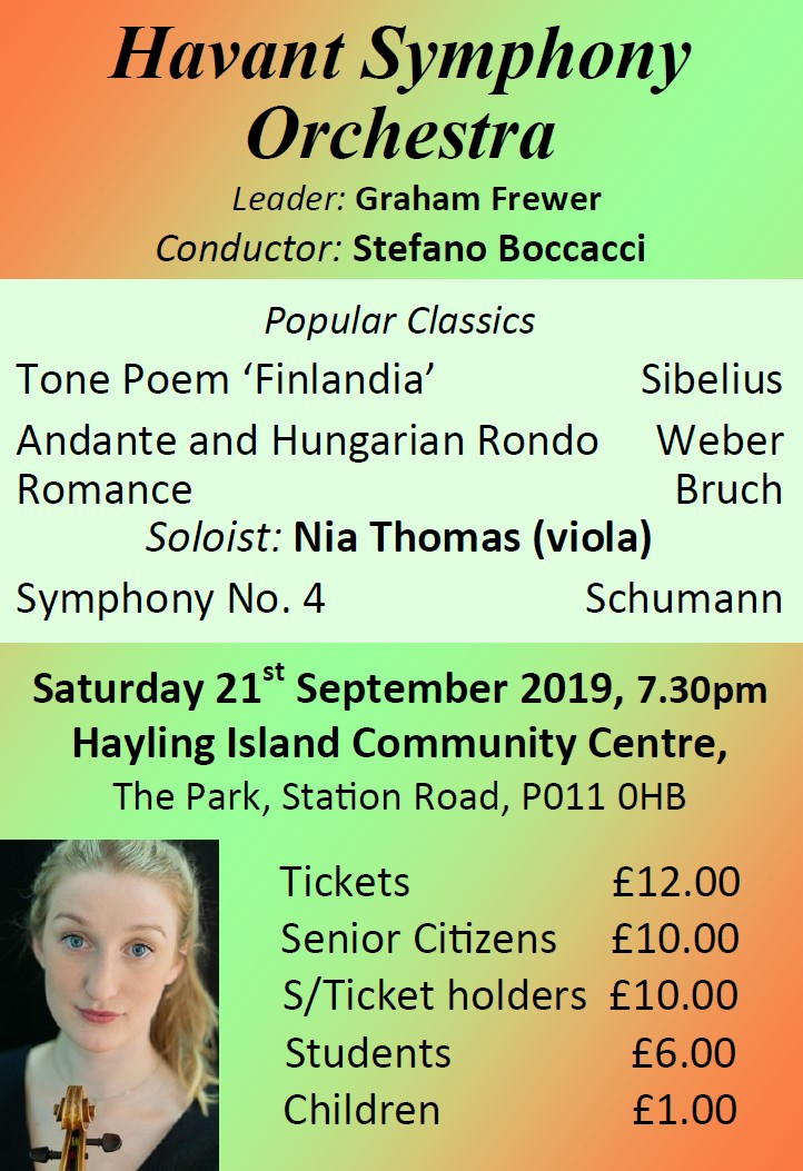 HSO Concert at Hayling Island CC 21st September 2019